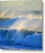 High Tide On The Atlantic Ocean Metal Print