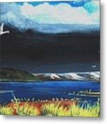 High Tide Swans Metal Print