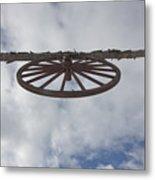 High Wagon Wheel Metal Print