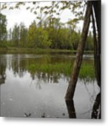 High Water Reflections Metal Print