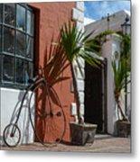 High Wheel Bicycle In Bermuda Metal Print