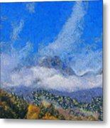 High Winds And Clouds Metal Print