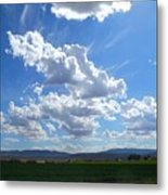 High Winds Chase The Rain Clouds Away Metal Print