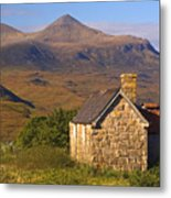 Highland Cottage At Elphin Metal Print