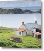 Highland Cottage Metal Print