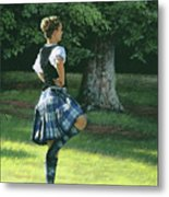 Highland Dancer Metal Print