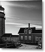 Highland Lighthouse Bw Metal Print