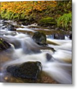 Highland River In Autumn Metal Print