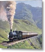 Highland Steam Metal Print