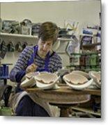 Highland Stoneware Artist At Work Metal Print