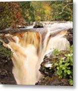 Highland Waterfall Dundonnell River Metal Print
