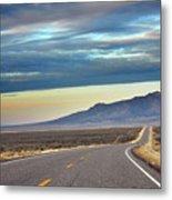 Highway 130 To Minersville Metal Print