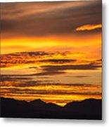 Highway 2 Sunrise Metal Print