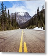 Highway 20 On Rainy Pass In North Cascades National Park Metal Print