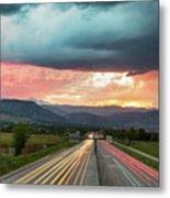 Highway 36 To Beautiful Boulder Colorado Metal Print