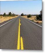 Highway In Central Oregon Metal Print
