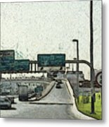 Highway In Dubai Metal Print