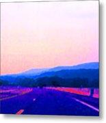 Highway In The Hills Sat Ae 2 Metal Print