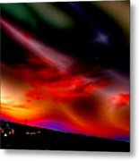 Highway Surreal Sunset Metal Print