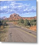 Highway To Sedona Metal Print