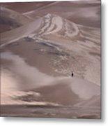 Hiker - Great Sand Dunes - Colorado Metal Print