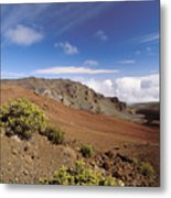 Hikers Inside Haleakala  Metal Print