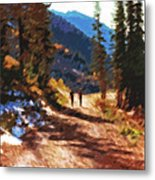 Hiking Couple In The Wasatch Metal Print