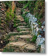 Hiking In Cinque Terre Italy Metal Print