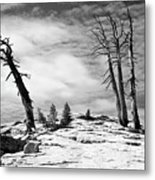 Hiking The Rim, Yosemite Metal Print