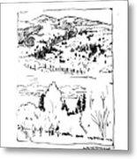 Hiking The Rockies Metal Print