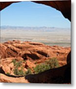 Hiking Through Arches Metal Print
