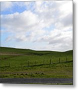 Hiking Trails, Rolling Hills And Grass Fields In Ireland Metal Print