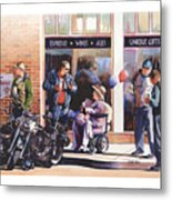 Hilda Hogs And Harleys Metal Print