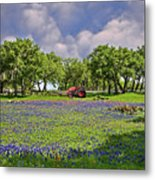 Hill Country Farming Metal Print