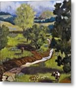 Hill Country Pasture Metal Print
