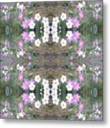 Hill Of Flowers Double Metal Print