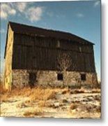 Hill Top Barn Metal Print