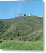 Hill With A House Metal Print