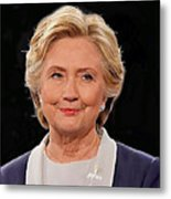Hillary At The Debate Metal Print