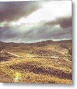 Hills And Outback Tracks Metal Print