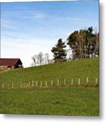 Hillside Farming Metal Print