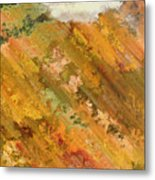Hillside Flowers I Metal Print