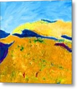 Hillside Impression Metal Print