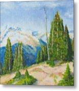 Hillside In Spring, 9x12, Oil, '07 Metal Print