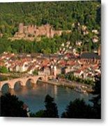 Hilltop View - Heidelberg Castle Metal Print