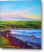 Hilo Bay Net Fisherman Metal Print