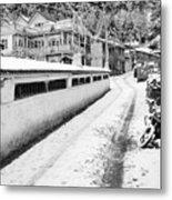 Himalayan Winter Scene Metal Print