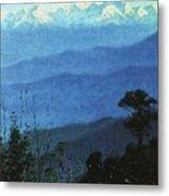 Himalayas In The Evening 1875 Vasily Vereshchagin Metal Print