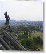 Himeji City From Shogun's Castle Metal Print