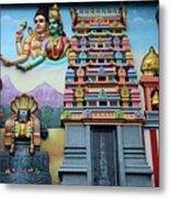 Hindu Deities On Wall Mural Of Sri Senpaga Vinayagar Tamil Temple Ceylon Rd Singapore Metal Print